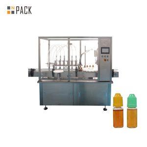 Stroj za polnjenje tekočine s peristaltično črpalko za majhno stekleničko
