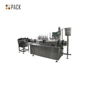 Prilagojena naprava za nanašanje steklenih kapalk in etiket za polnjenje tekočin za cigarete